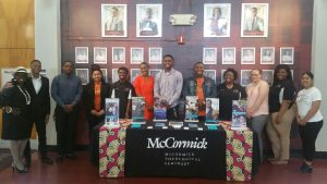 NCCU Wesley Fellows welcome Rev. Diane Bogues, Director of Recruitment at  McCormick Seminary to NCCU during Seminary Day Worship Service.