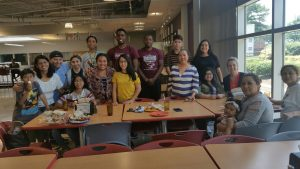 NCCU Wesley Fellows share lunch and laughter with beautiful Latinix students interested in attending NCCU
