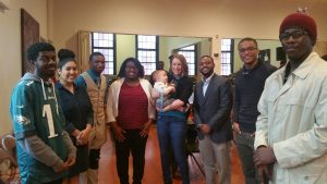 NCCU Wesley Fellows celebrating after worship service at CityWell Church